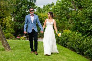 Garden Wedding Photograph in Dublin